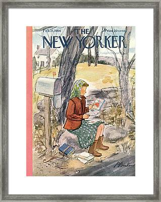 New Yorker February 13th, 1954 Framed Print