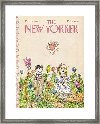 New Yorker February 13th, 1984 Framed Print by William Steig