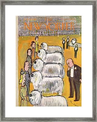 New Yorker February 14th, 1948 Framed Print by Abe Birnbaum