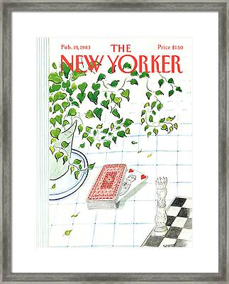 New Yorker February 14th, 1983 Framed Print by Jean-Jacques Sempe