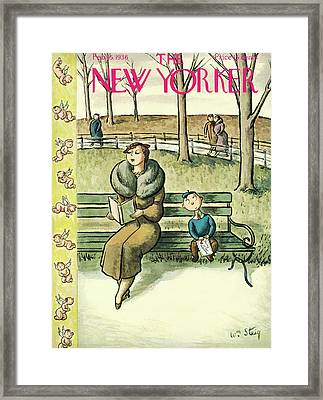 New Yorker February 15th, 1936 Framed Print by William Steig
