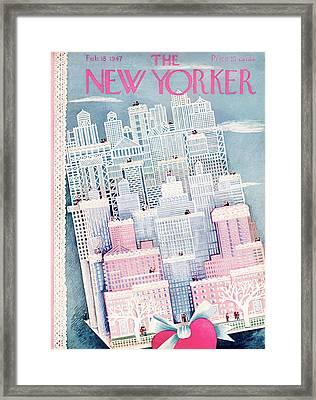 New Yorker February 15th, 1947 Framed Print by Ilonka Karasz