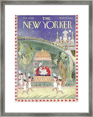 New Yorker February 15th, 1958 Framed Print by Anatol Kovarsky