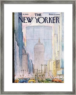 New Yorker February 16th, 1963 Framed Print by Alan Dunn
