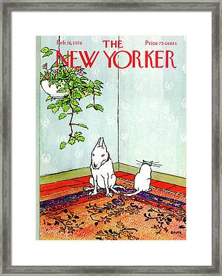 New Yorker February 16th, 1976 Framed Print by George Booth