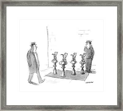 New Yorker February 16th, 1987 Framed Print by James Stevenson