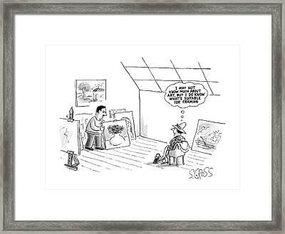 New Yorker February 16th, 1987 Framed Print by Sam Gross