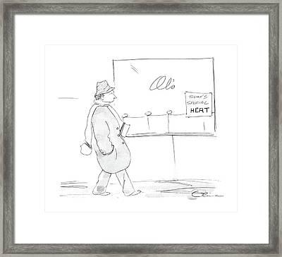 New Yorker February 17th, 1986 Framed Print by Richard Cline