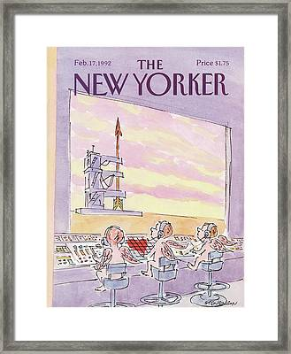 New Yorker February 17th, 1992 Framed Print by James Stevenson