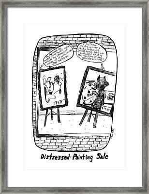 New Yorker February 17th, 1992 Framed Print by Stephanie Skalisk