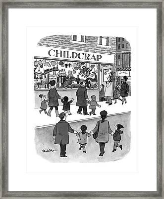 New Yorker February 17th, 1997 Framed Print by J.B. Handelsman
