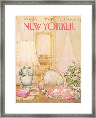 New Yorker February 18th, 1985 Framed Print by Jenni Oliver