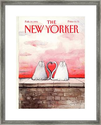 New Yorker February 18th, 1991 Framed Print by Ronald Searle
