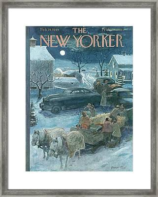 New Yorker February 19th, 1949 Framed Print by Garrett Price