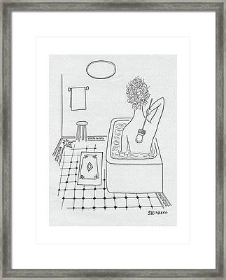 New Yorker February 19th, 1949 Framed Print by Saul Steinberg