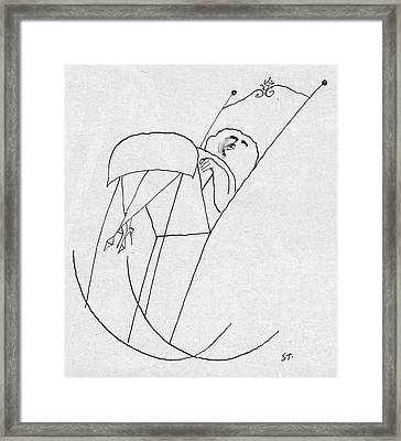 New Yorker February 1st, 1958 Framed Print by Saul Steinberg