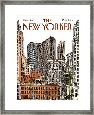 New Yorker February 1st, 1982 Framed Print