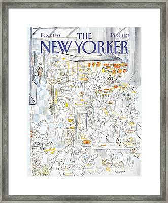 New Yorker February 1st, 1988 Framed Print by Jean-Jacques Sempe