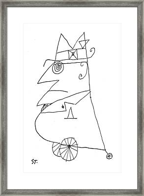 New Yorker February 20th, 1960 Framed Print by Saul Steinberg