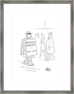 New Yorker February 21st, 1942 Framed Print by Chon Day