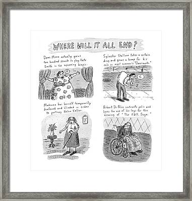 New Yorker February 23rd, 1998 Framed Print by Roz Chast