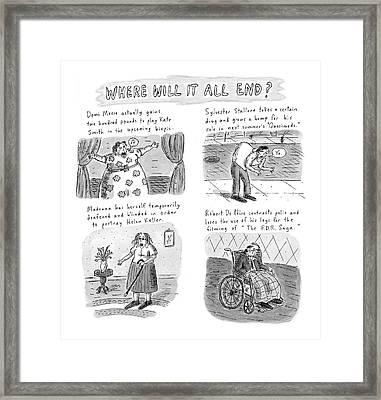 New Yorker February 23rd, 1998 Framed Print