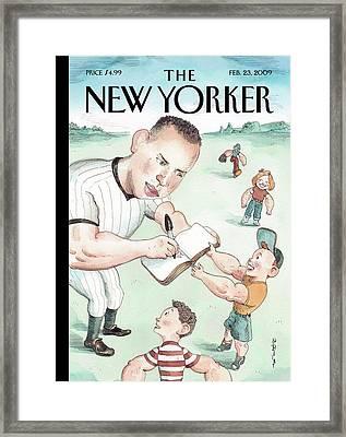 New Yorker February 23rd, 2009 Framed Print by Barry Blitt
