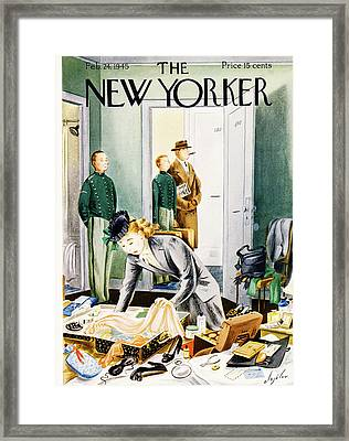 New Yorker February 24th, 1945 Framed Print