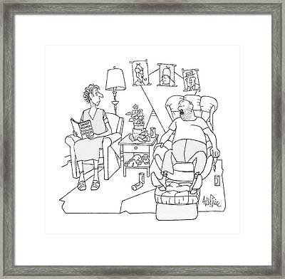 New Yorker February 24th, 1986 Framed Print by George Price