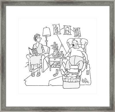 New Yorker February 24th, 1986 Framed Print