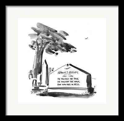 Headstones Drawings Framed Prints