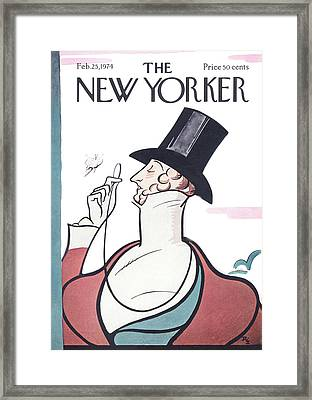 New Yorker February 25th, 1974 Framed Print by Rea Irvin