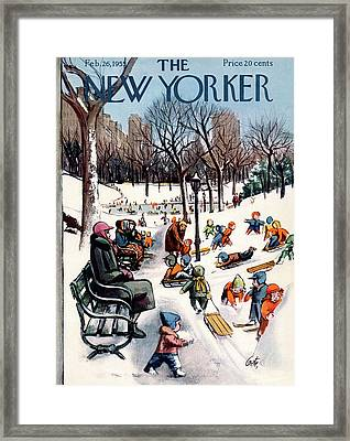 New Yorker February 26th, 1955 Framed Print by Arthur Getz