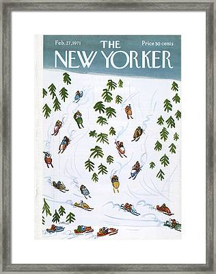 New Yorker February 27th, 1971 Framed Print by Donald Reilly
