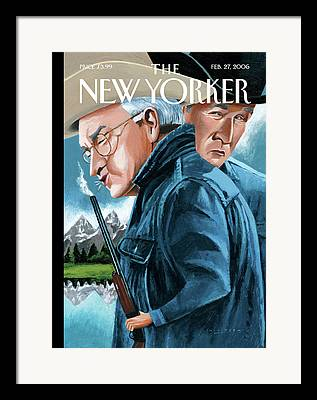 Dick Cheney Paintings Framed Prints