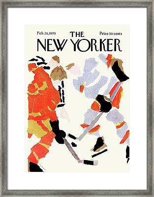 New Yorker February 28th, 1970 Framed Print by James Stevenson