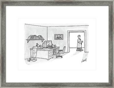 New Yorker February 29th, 1988 Framed Print by Tom Cheney