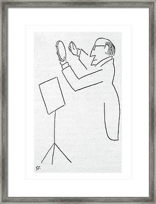 New Yorker February 2nd, 1957 Framed Print by Saul Steinberg