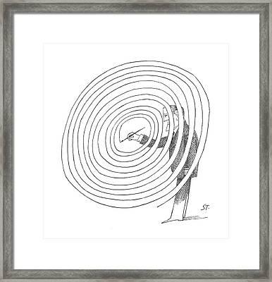 New Yorker February 2nd, 1963 Framed Print by Saul Steinberg