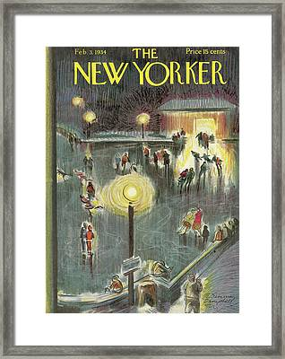 New Yorker February 3rd, 1934 Framed Print by E. Simms Campbell
