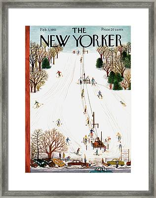 New Yorker February 3rd, 1951 Framed Print