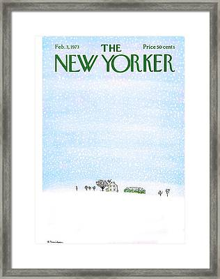 New Yorker February 3rd, 1973 Framed Print by Raymond Davidson