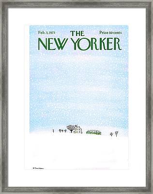 New Yorker February 3rd, 1973 Framed Print