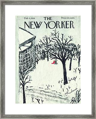 New Yorker February 4th, 1956 Framed Print by Abe Birnbaum