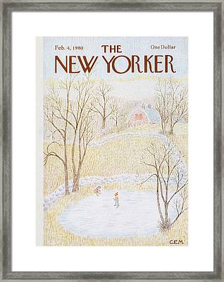 New Yorker February 4th, 1980 Framed Print by Charles E. Martin