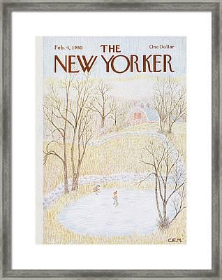 New Yorker February 4th, 1980 Framed Print