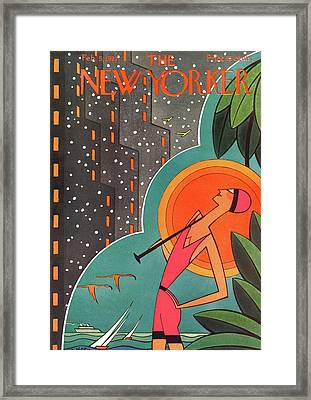 New Yorker February 5th, 1927 Framed Print by H.O. Hofman