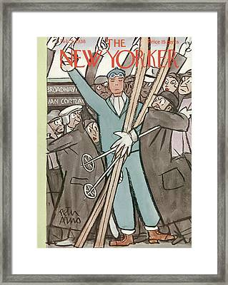 New Yorker February 5th, 1938 Framed Print by Peter Arno