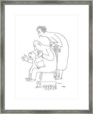 New Yorker February 6th, 1943 Framed Print by Saul Steinberg