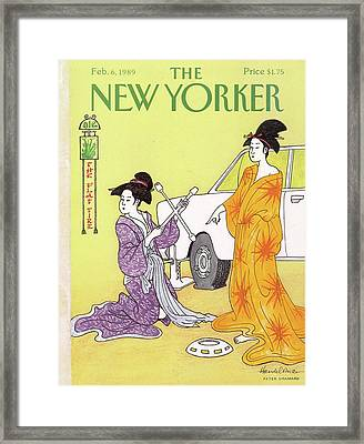 New Yorker February 6th, 1989 Framed Print by J.B. Handelsman